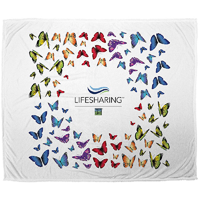 Microfleece butterfly Throw Blanket