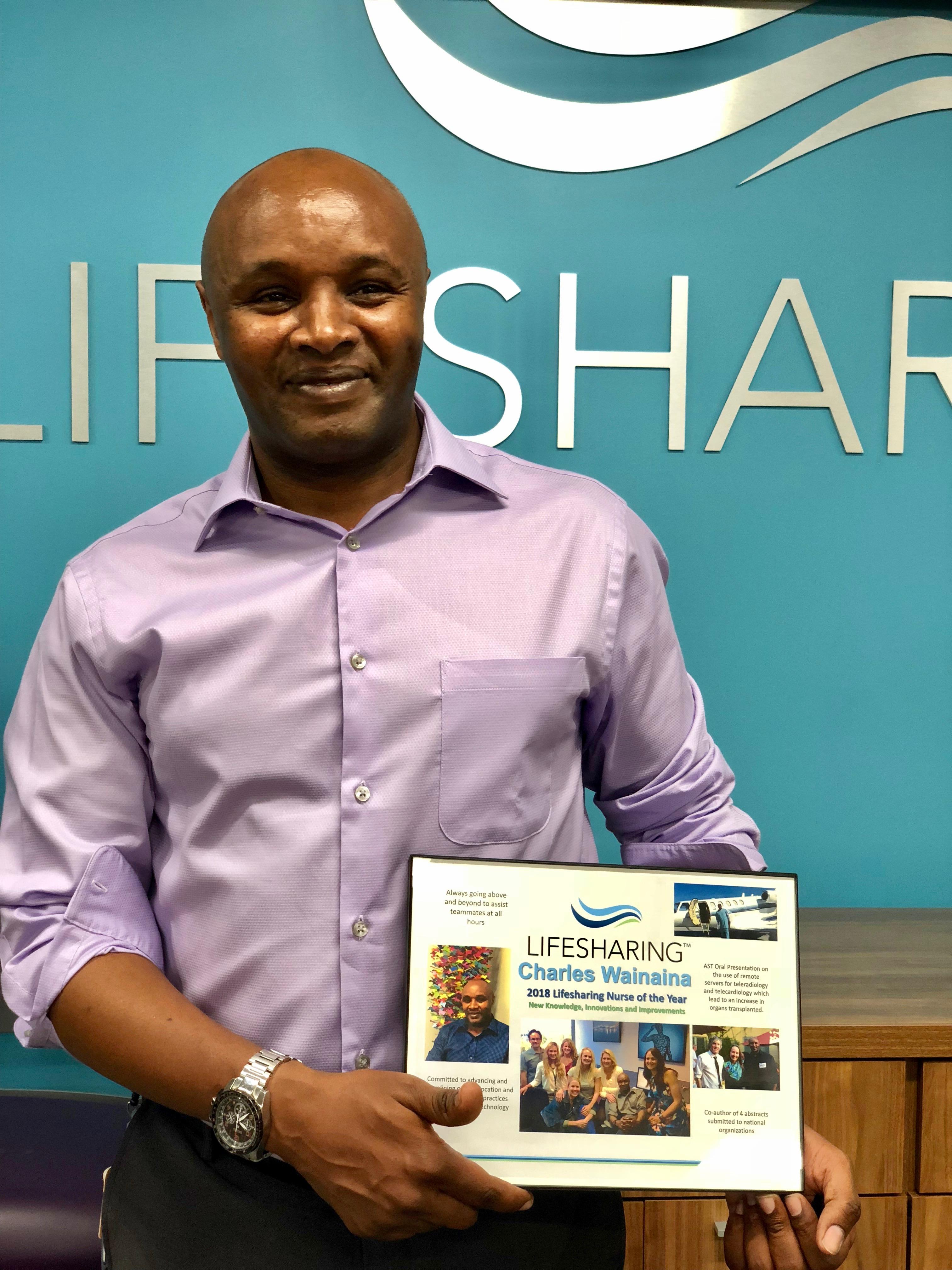 Charles Wainaina, Lifesharing Nurse of the Year